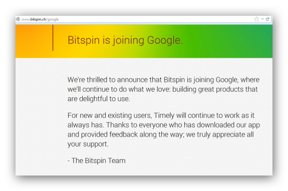 Bitspin announces Google Acquisition e1388858779455 - Google acquires Timely Alarm Clock developer Bitspin, makes the app freeware