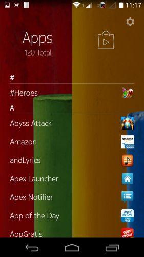 Nokia Z Launcher App Drawer