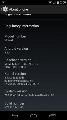 Moto G Android 4.4.4 KitKat Update India