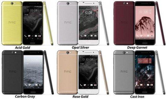 HTC Aero colours