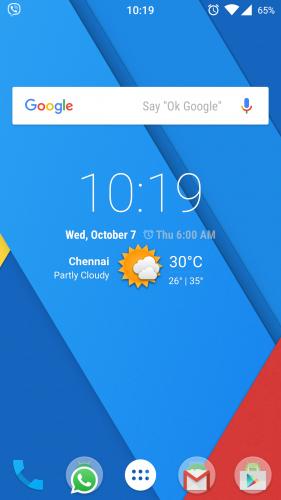 Xiaomi Mi 4 CM 12.1 homescreen