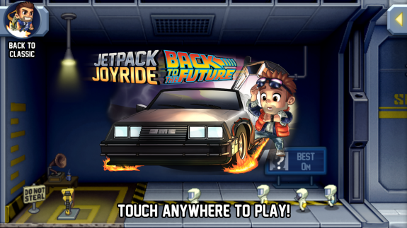 jetpack joyride back to the future