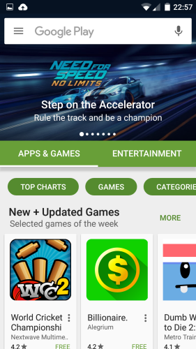 Google Play Store 6.0 UI