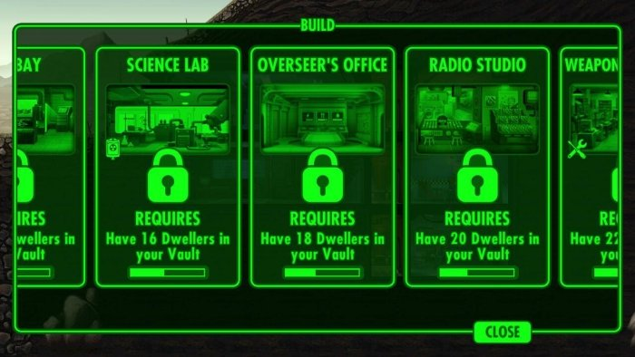 Fallout Shelter Overseer Room
