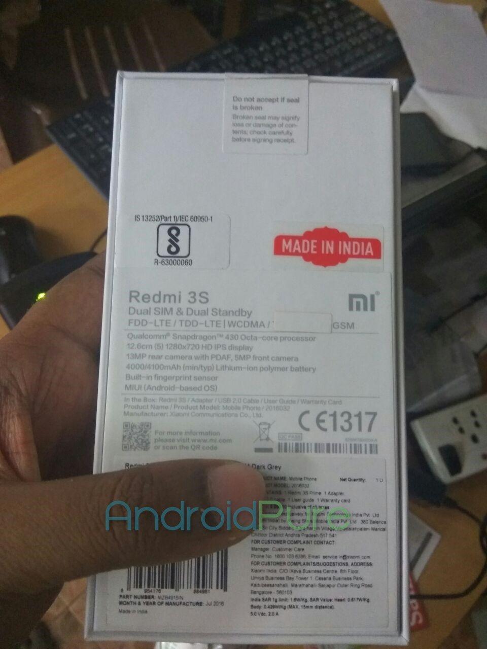Redmi 3S Prime handson 3 Redmi 3S Prime hands on photos and quick review 1