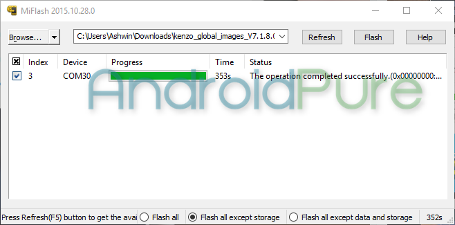 Redmi Note 3 Mi Flash 3