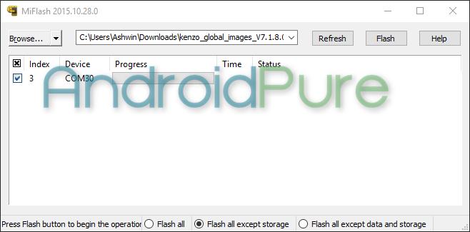 Redmi Note 3 Mi Flash COM Port