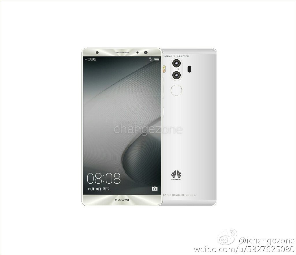 Huawei Mate 9 a New Huawei Mate 9 press renders with dual cameras leaked 3