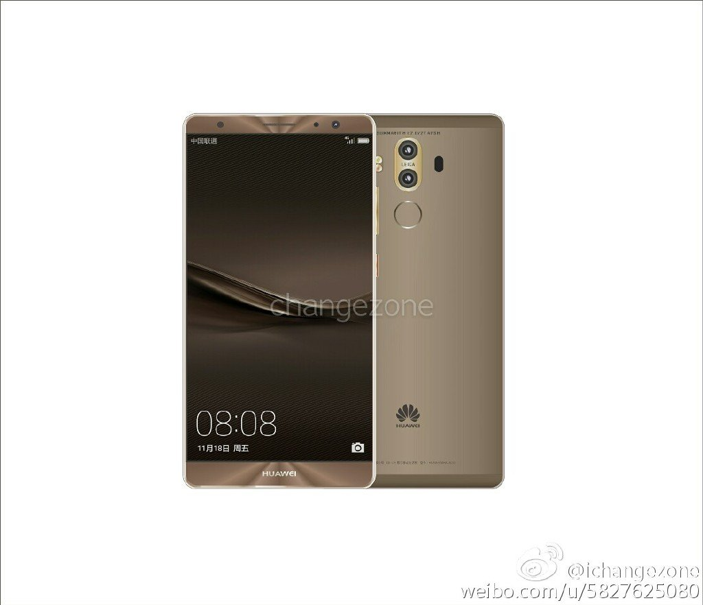 Huawei Mate 9 b New Huawei Mate 9 press renders with dual cameras leaked 4
