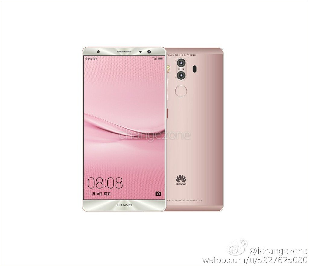 Huawei Mate 9 c New Huawei Mate 9 press renders with dual cameras leaked 5