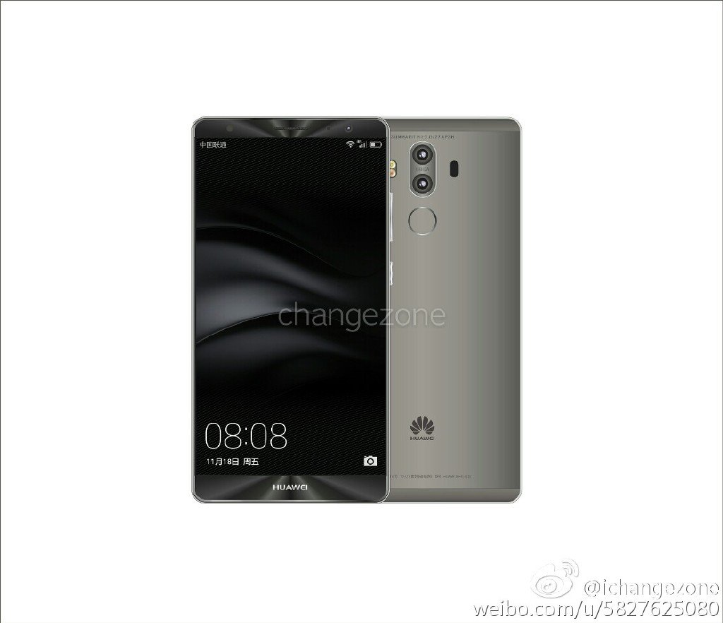 Huawei Mate 9 e New Huawei Mate 9 press renders with dual cameras leaked 7