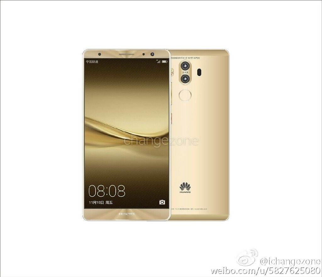 Huawei Mate 9 f New Huawei Mate 9 press renders with dual cameras leaked 8