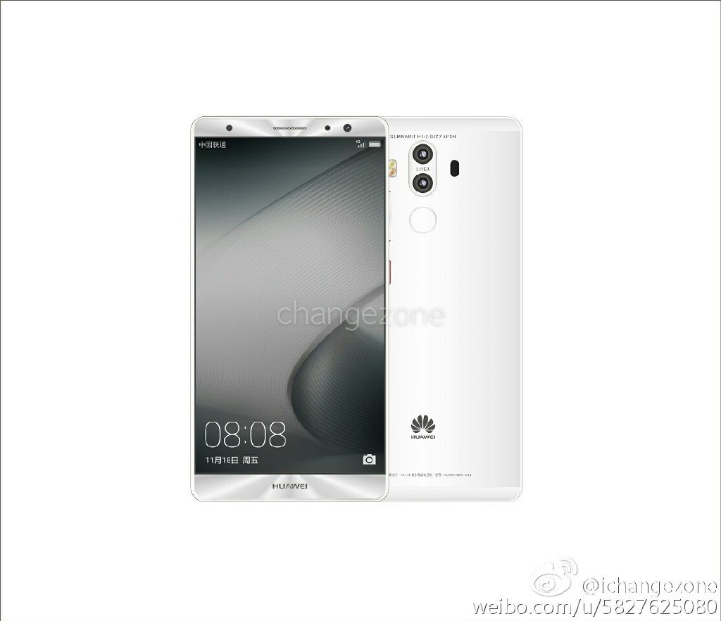Huawei Mate 9 h New Huawei Mate 9 press renders with dual cameras leaked 2