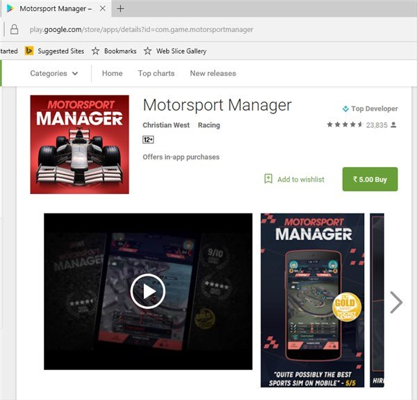 Motorsport Manager Android 2 - Home