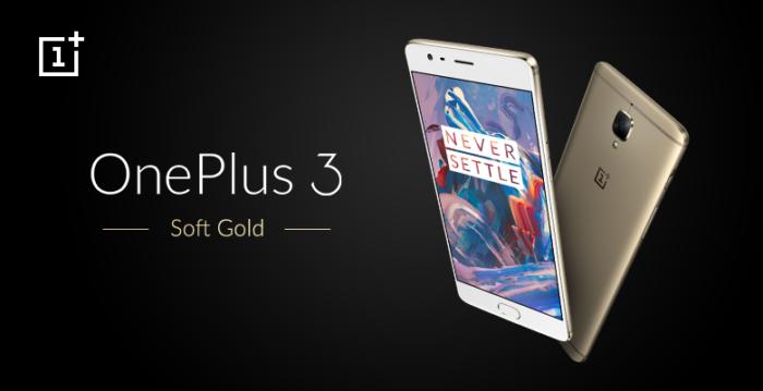 OnePlus 3 Soft Gold India