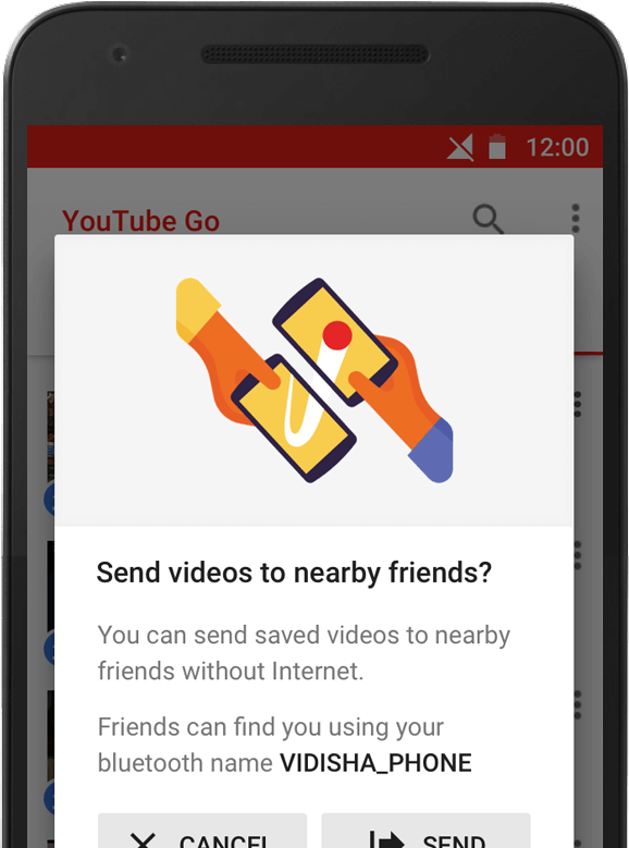 YouTube Go 3 - Home