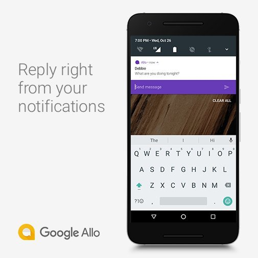 Allo 2.0 Quick Reply - Home