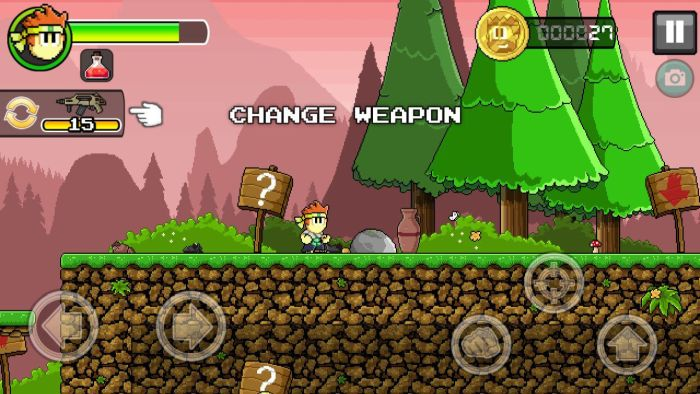 Dan The Man change weapon Halfbrick Studios' action platformer Dan The Man is now available globally on Google Play 14