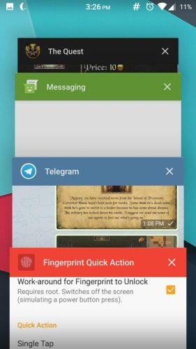 Fingerprint Quick Action 4 How to enable fingerprint scanner gestures on any Android phone 5