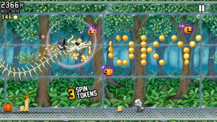 Jetpack Joyride Bone Dragon Grim Reaper Jetpack Joyride Halloween update brings Bone Dragon, Grim Reaper costume, Jack-o'-lantern jetpack and more 7