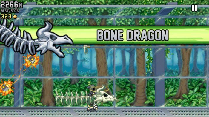 Jetpack Joyride Bone Dragon Jetpack Joyride Halloween update brings Bone Dragon, Grim Reaper costume, Jack-o'-lantern jetpack and more 8