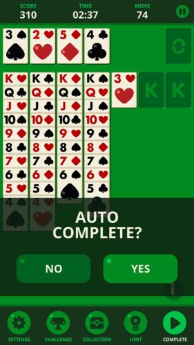 Solitaire Decked Out Ad Free auto complete - Home