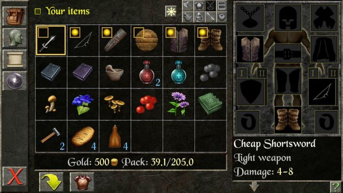 The Quest Inventory The Quest RPG is now available for Android devices, and here is our mini review of the game 1