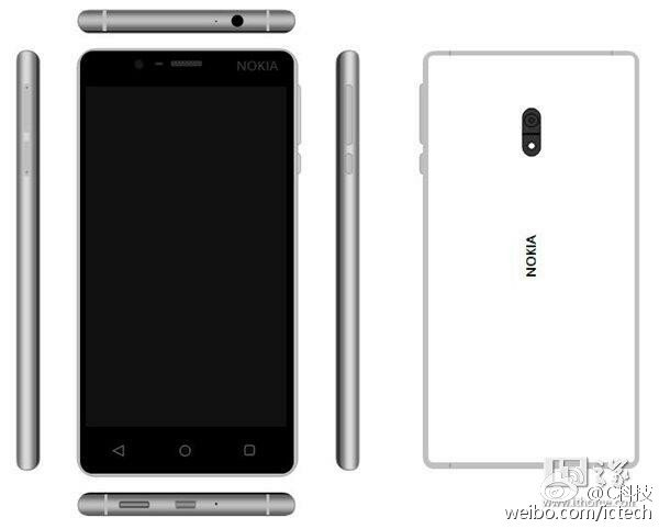 Nokia D1C render Nokia D1C Renders in White, Black and Gold with Fingerprint sensor surface online 1