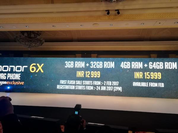 Honor 6X price 1 - AndroidPure