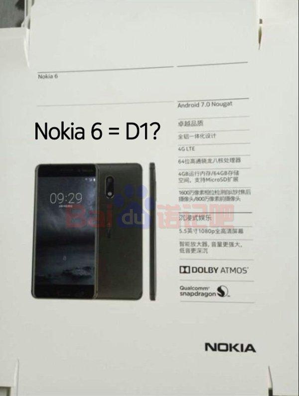 Nokia 6 Nokia 6 specs, Render with Octa-core Snapdragon SOC, 4 GB RAM leaked 1