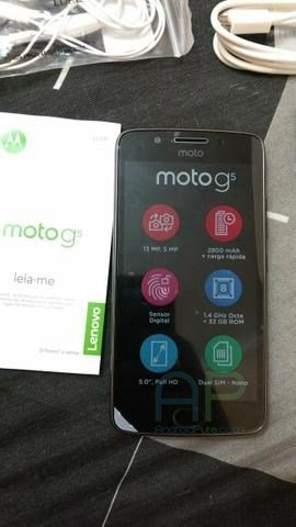 Moto G5 Display Moto G5 Real images with Retail Box, removable battery leaks 3
