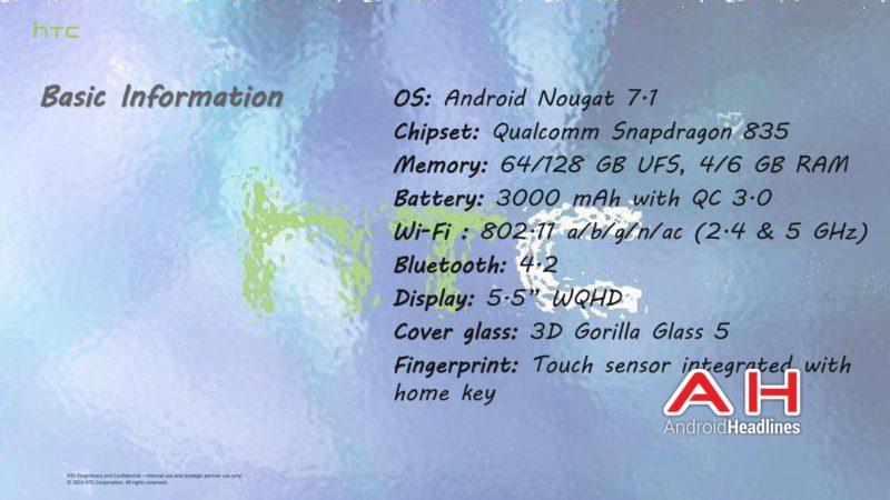 htc u ocean Specifications e1491206475544 HTC U Ocean Specifications and Info Leak In Full 2