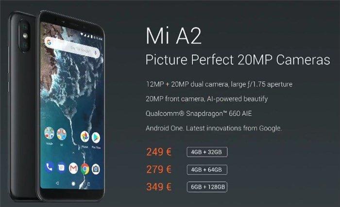 Mi A2 features