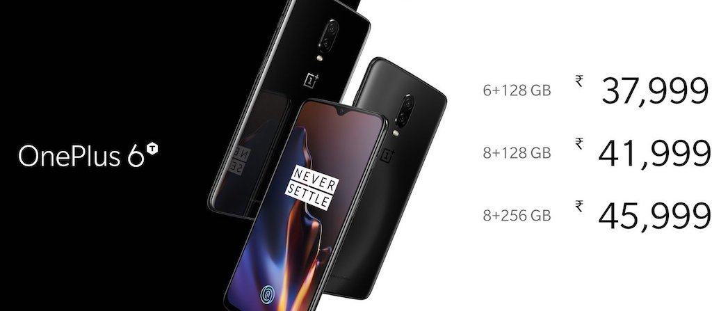 OnePlus 6T Price India OnePlus 6T with in-display fingerprint launched in India starting at Rs. 37999 1