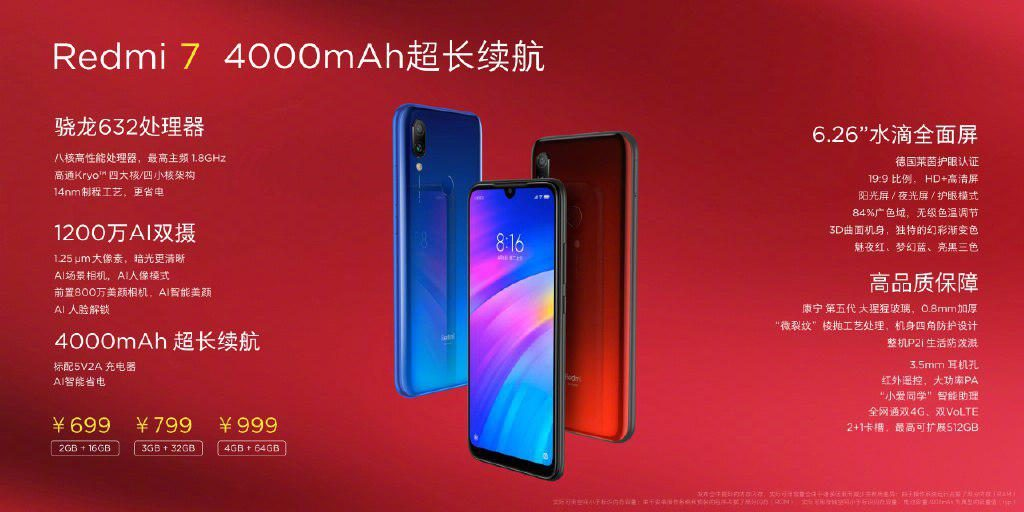 Redmi 7 in China