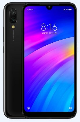 Redmi 7 official black press render