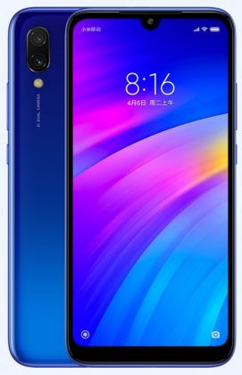 Redmi 7 official blue press render