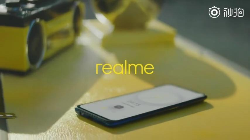 Realme phone with pop-up selfie camera