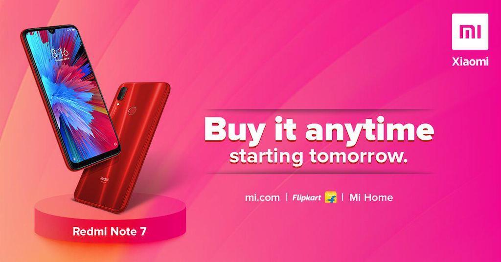 Redmi Note 7 Flash Sale Open
