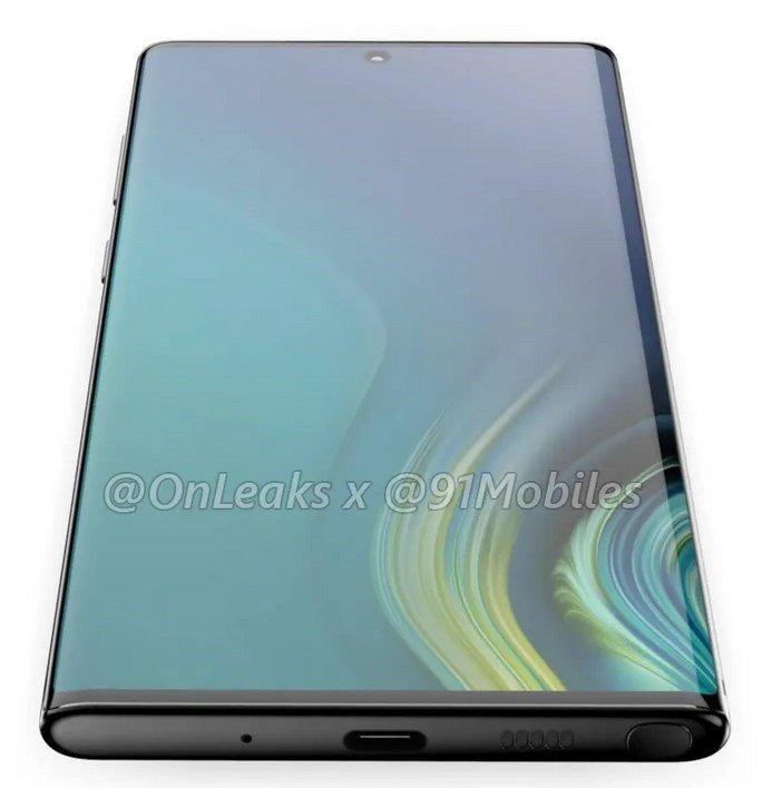 Samsung Galaxy Note10 renders