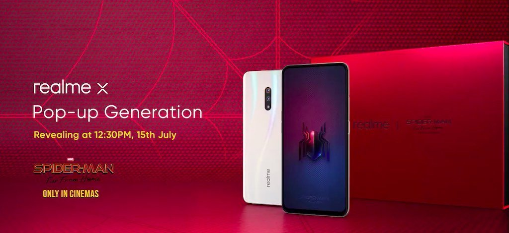 Realme X Spider Man Launch india Realme X Spider-Man: Far From Home Edition to launch in India on July 15 1