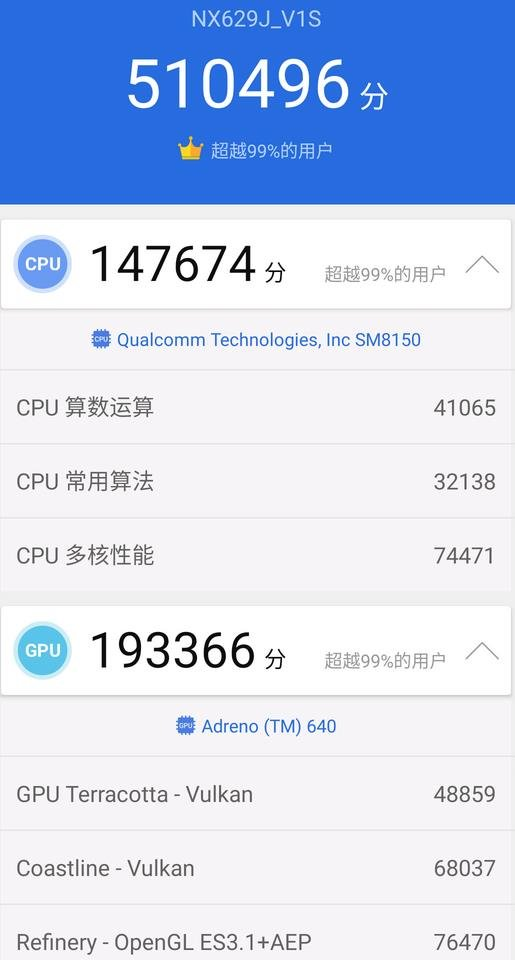 Nubia Red Devil 3S benchmark score