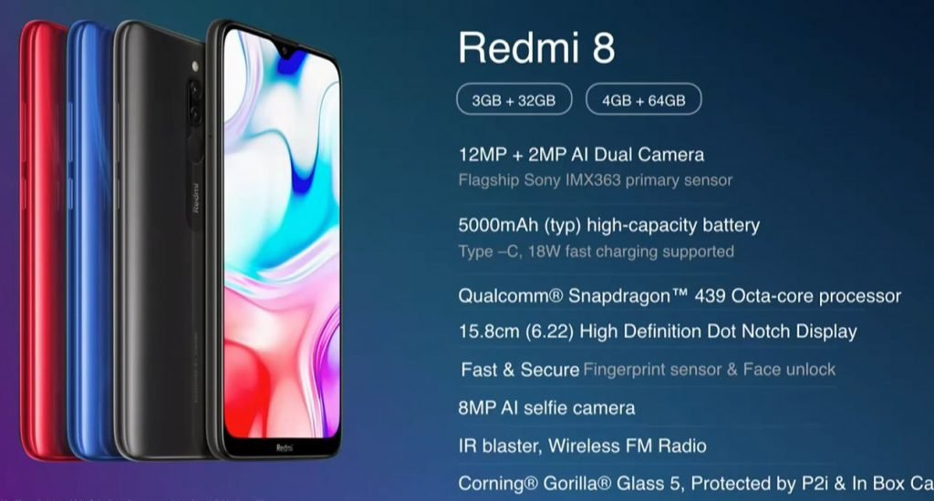 Redmi 8 specs sheet Redmi 8 launched in India; It's the Redmi 8A with dual cameras and more memory 1 News | Phones