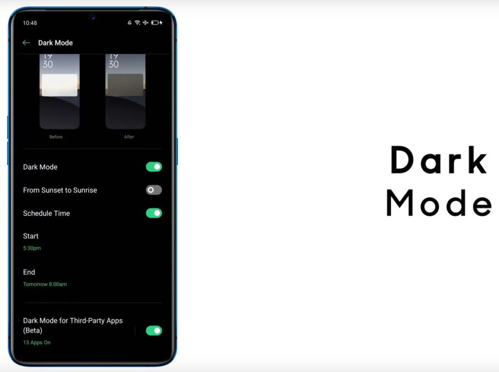 Realme Ui features Dark Mode