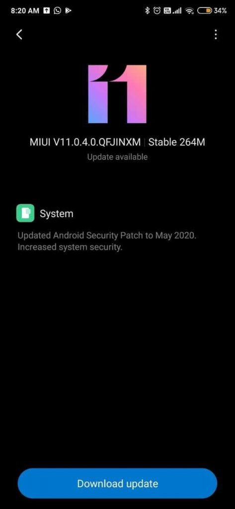 Xiaomi rolls out MIUI 11.0.4.0 Update for Redmi K20