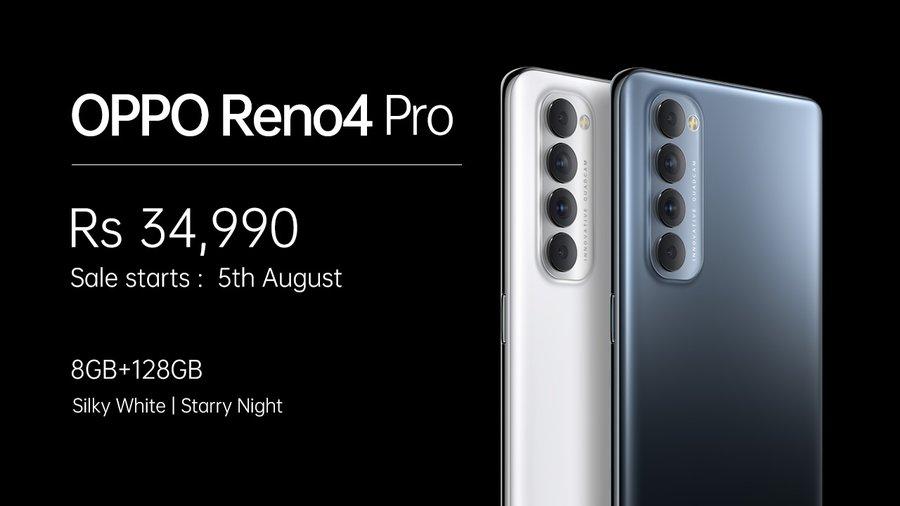 Oppo Reno 4 Pro price in India