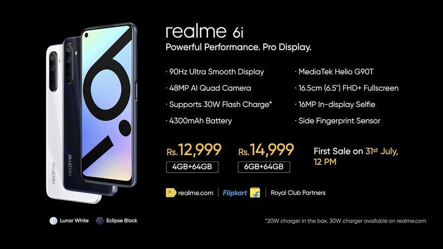 Realme 6i price in India