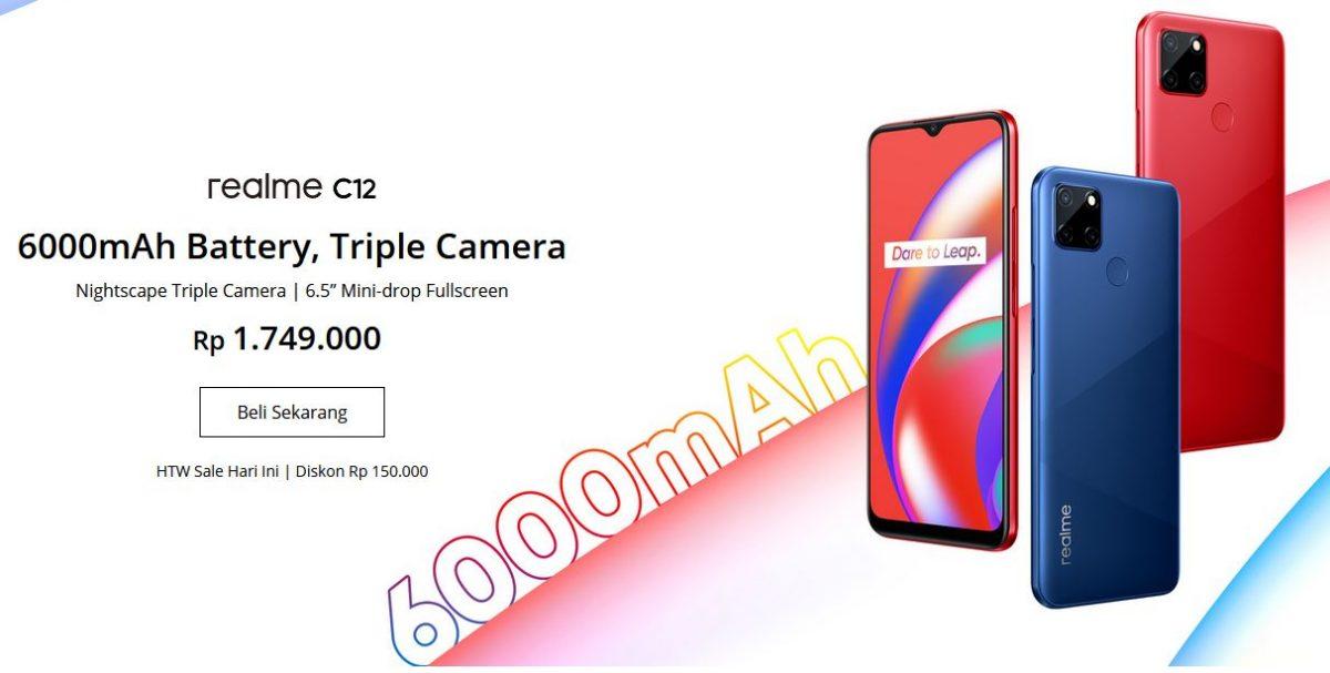 Realme C12 price in Indonesia